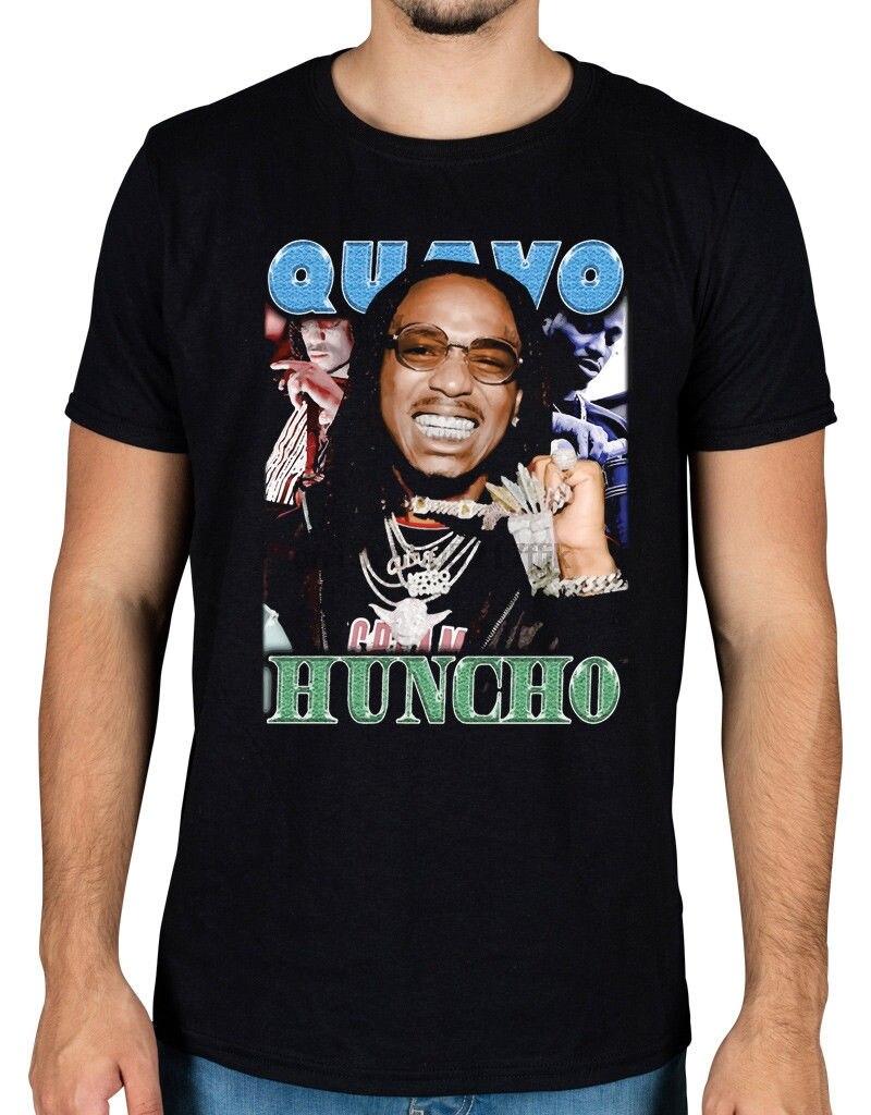 Quavo Huncho Vintage camiseta Migos Walk It Talk It cultura 2 remover Fry Offset novedad Cool Tops hombres Camiseta de manga corta