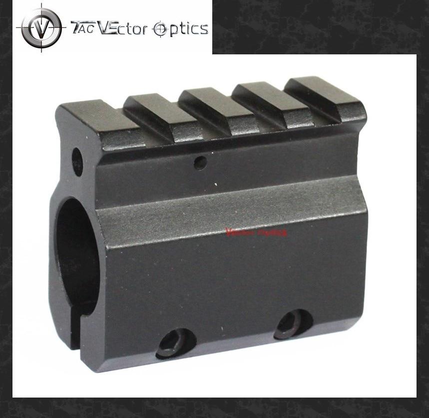 "Vector Optics Adjustable Gas Block Single 20mm Picatinny Rail Mounting .223 LR-308 Barrel .750"" Inside Diameter 0.75 inch"