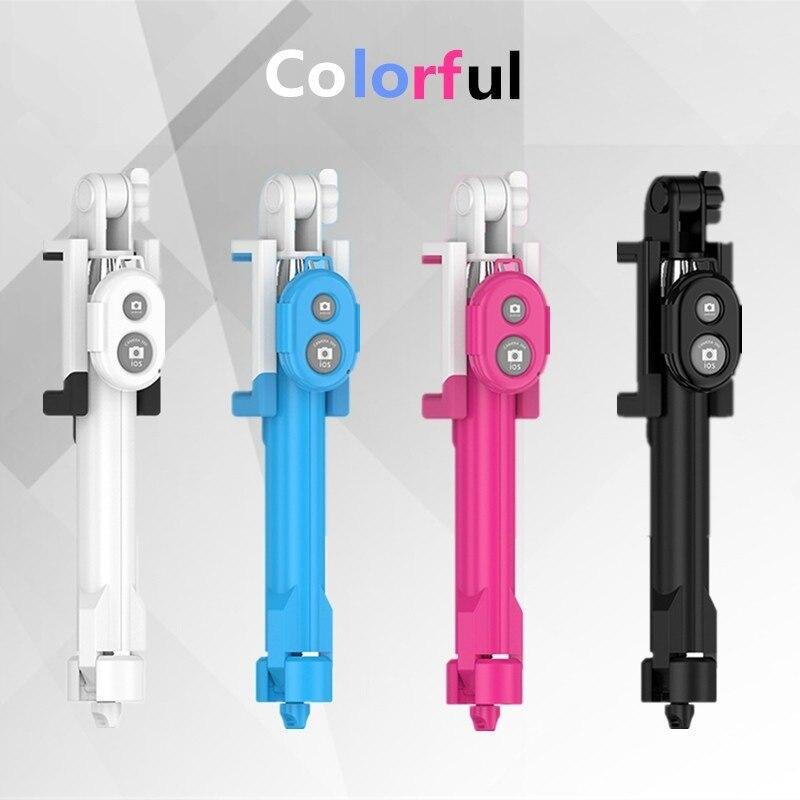 Mini Wireless Bluetooth Selfie stick Remote Control Shutter Handheld 4 in 1 Selfie Sticks Monopod Tripod+Holder for SmartPhone