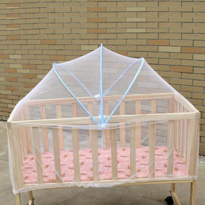 Mosquitera para cama de bebé, malla de verano, cortina de cúpula, red plegable, segura, cuna, dosel, mosquitera, mosquitera para niños, cuna infantil