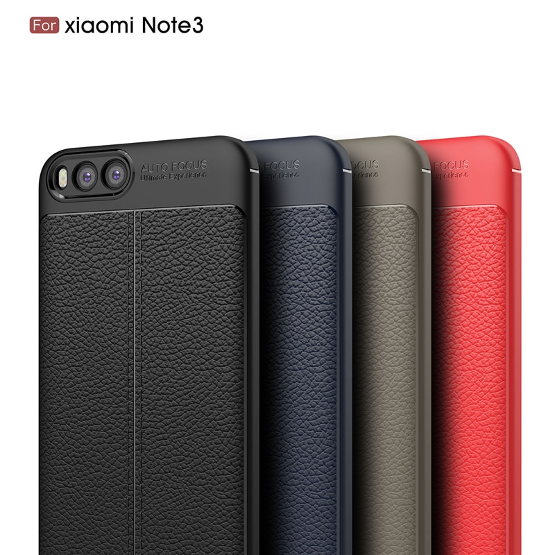 Leather Soft TPU Cover Case for Xiaomi Mi Note 3 Shockproof Silicone Case Back Cover For Xiaomi POCO