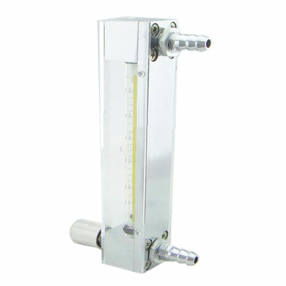 Газовый ротаметр, 6-60 мл/мин., стеклянный ротаметр, расходомер с регулирующим клапаном для воздушного поплавкового газа, ротаметр, он может р...