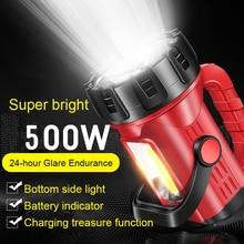 Lampe de poche Rechargeable par USB   Projecteur portable, Rechargeable, Rechargeable, longue portée 2000, super lumineuse, xénon multifonction, pour camping en plein air