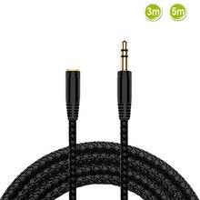 3 m/5 m Jack 3.5mm rallonge câble Audio 3.5 mâle à femelle écouteur câble dextension casque stéréo AUX cordon pour voiture MP3 haut-parleur