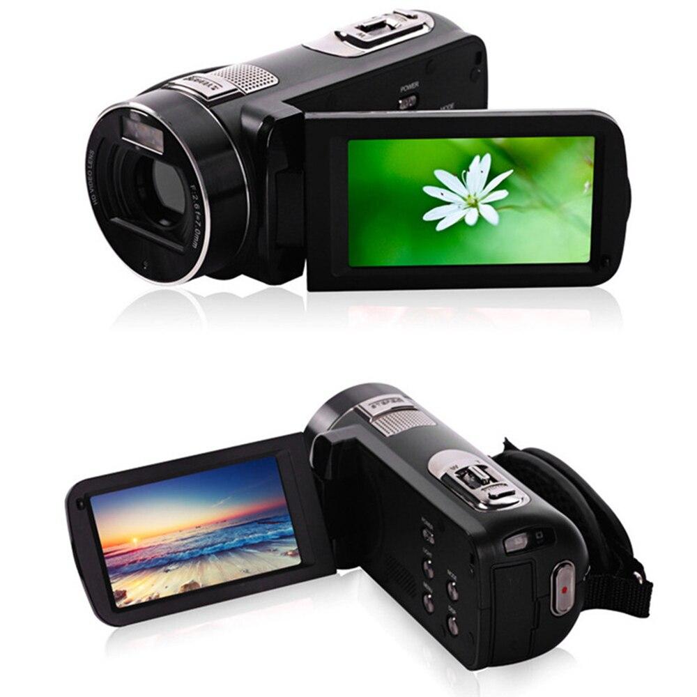 Full HD 1080P cámaras de fotos digitales profesionales con telescopio 16X Video Recorder Mini videocámara DV Anti-vibración cámara compacta