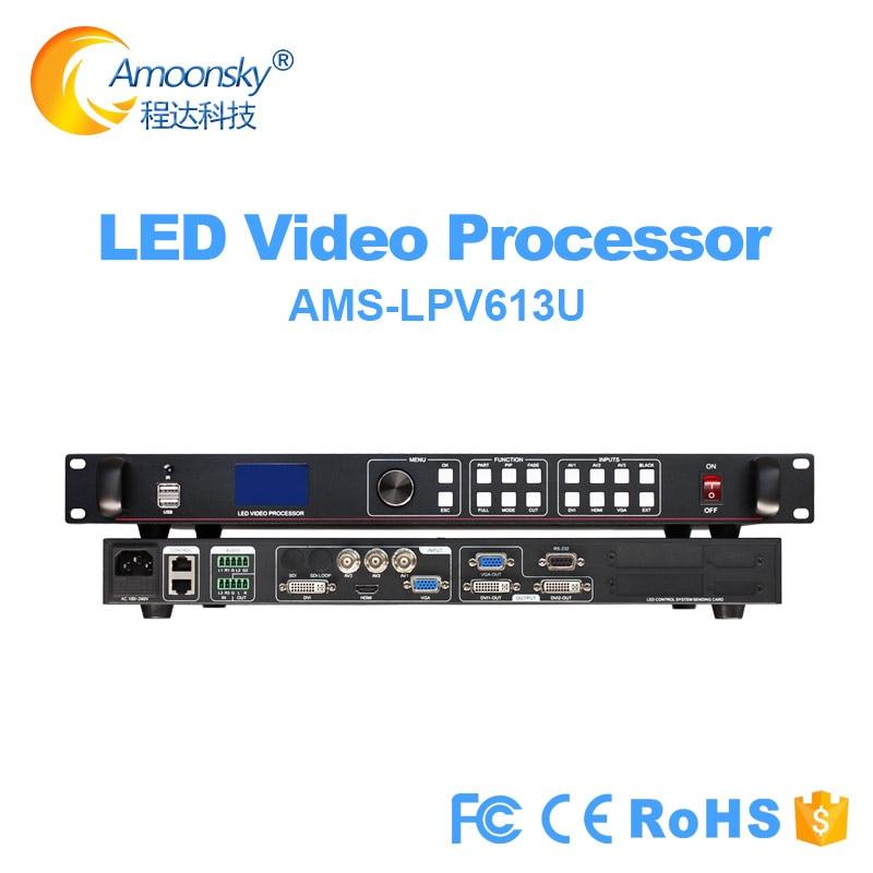 معالج الصوت والفيديو USB LVP613U يدعم 2304*1152 مماثل VDWALL LVP505 سلس تبديل معالج الفيديو