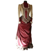 R-838 vintage costumi 1860 s guerra civile southern belle abito di sfera wedding dress/abiti gothic lolita dress vittoriano