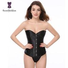 Corselet amincissant quotidien de haute qualité satin noir blanc dentelle désossé corset et bustier taille S-6XL 818 #