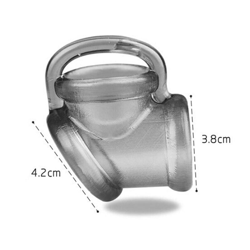 Anillo de escroto masculino cinturón de castidad anillo de pene juguetes sexuales para hombres pene atadura de pene