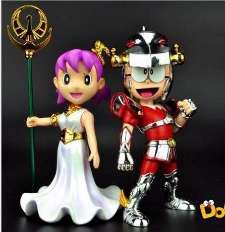 Doraemon porque Pegasus Saint Seiya Atenas Cosplay Nobita Nobi Minamoto Shizuka 13cm juguetes de acción   PVC figuras de acción juguetes de la muñeca
