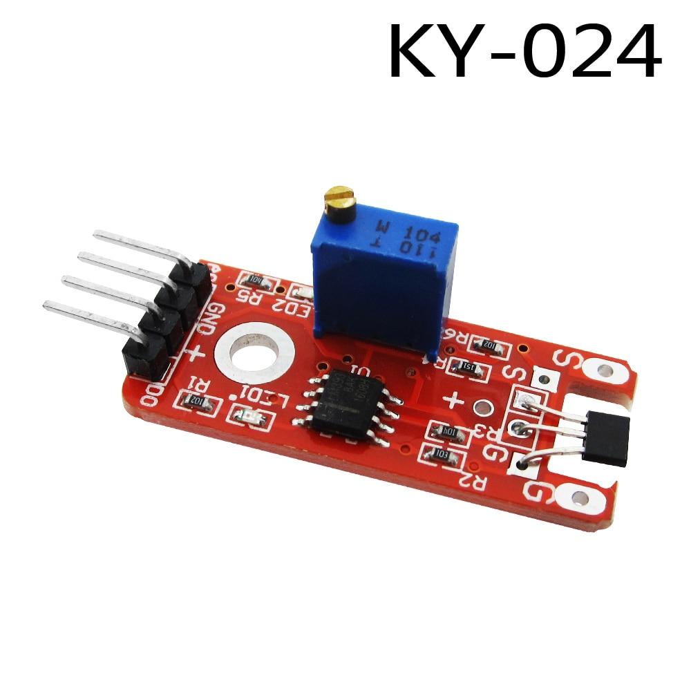 1 pcs 4pin Interruptores Velocidade Contando Módulo Sensor Hall Linear Magnético KY-024