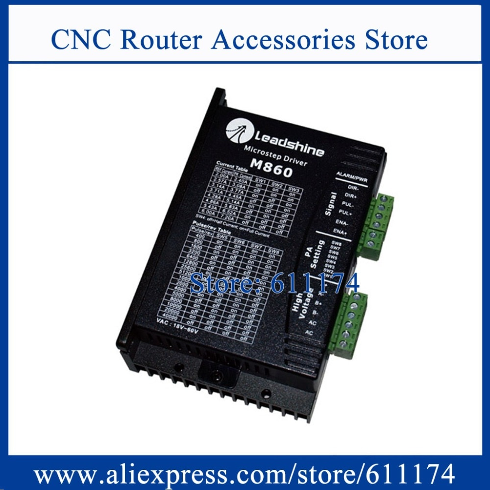 Controlador de motor paso a paso de 2 fases Leadshine M860 V5.0 18-80VDC 7.2A controlador paso a paso M860, controlador de máquina de grabado