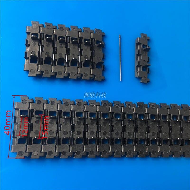 Plastic Track Double Holes for DIY Robot Tank Smart Car Caterpillar 4.0X93cm