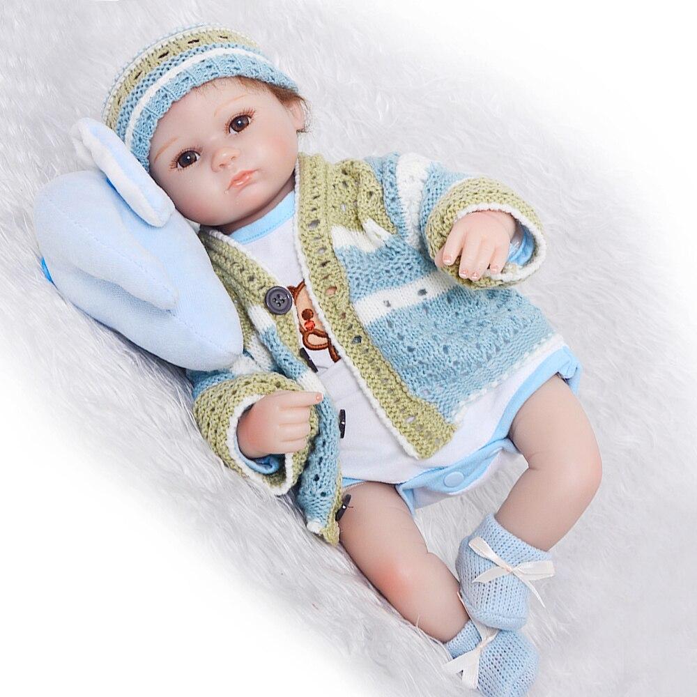 NPK, muñecas de bebé Reborn realistas de 40cm para niñas, muñecas de Vinilo Suave de silicona para niños Reborn, bebés reborn, muñecas de silicona realista