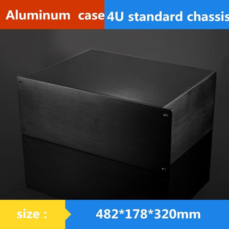 Корпус AMP 482*178*320 мм 19 дюймов 4U стандарт шасси инструментальная алюминиевая оболочка Сетевая связь шкафы алюминиевый корпус
