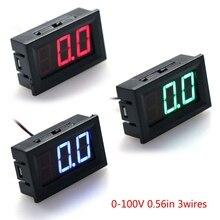 DC voltímetro Panel LED amperímetro Universal Mini DC 0-100V 3-Alambre de medidor de corriente de voltaje de pantalla LED medidor de Panel Digital