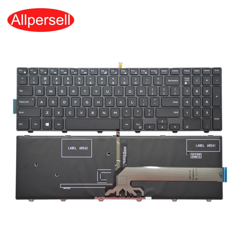 Laptop keyboard for Dell 15 3541 3542 3543 5548 5542 5543 5545 5547 P39F brand new With backlight