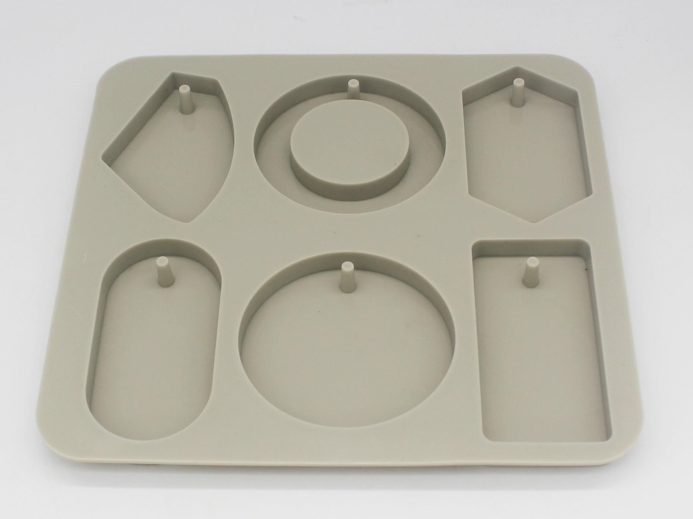 Molde aromático de yeso con forma variada para tableta, molde de arcilla colgante de yeso de silicona