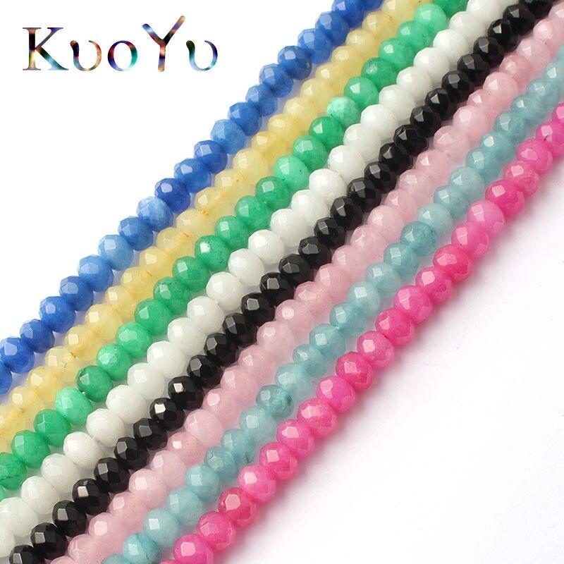 6mm Espaço Natural Lapidado Checa Cristal Rondelle Contas Loose Beads Para Fazer Jóias 15 polegadas DIY Colar Pulseira Atacado