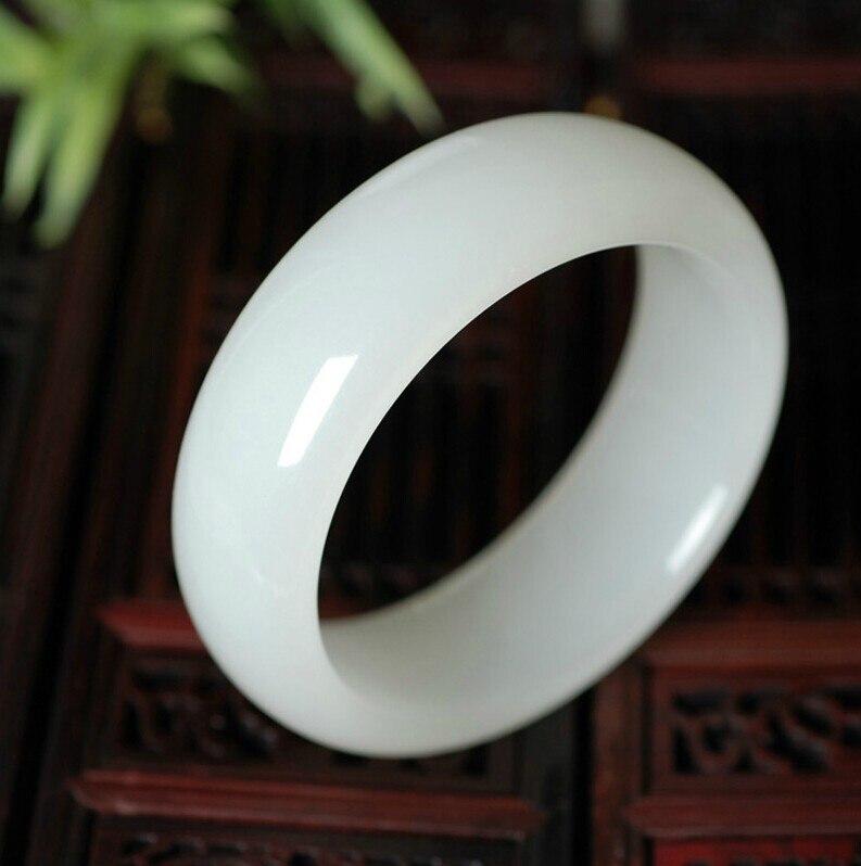 Афганский белый нефритовый браслет из натурального нефрита, натуральный нефрит, браслеты из нефрита 60 --- 62 мм