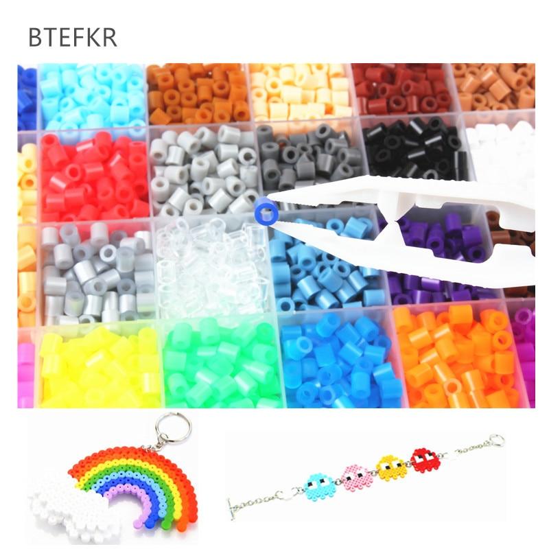 1000 unids/bolsa 5mm Hama cuentas 48 colores Perler cuentas juguete fusible de...