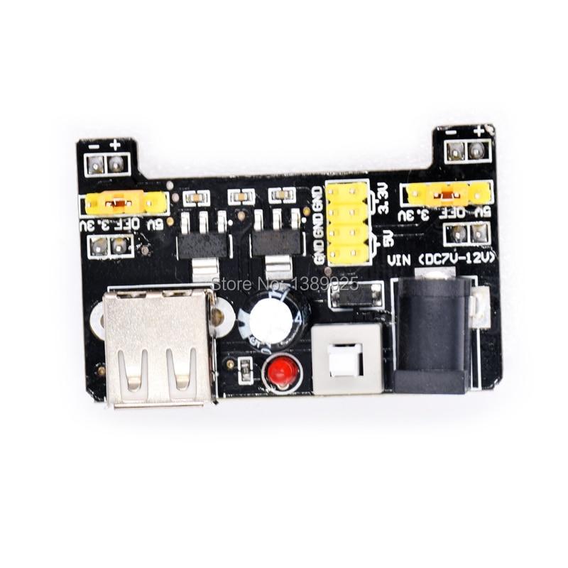 Оптовая продажа 10 шт./лот MB102 макетная плата 3,3 В 5 В, без клея, для DIY регулятора напряжения