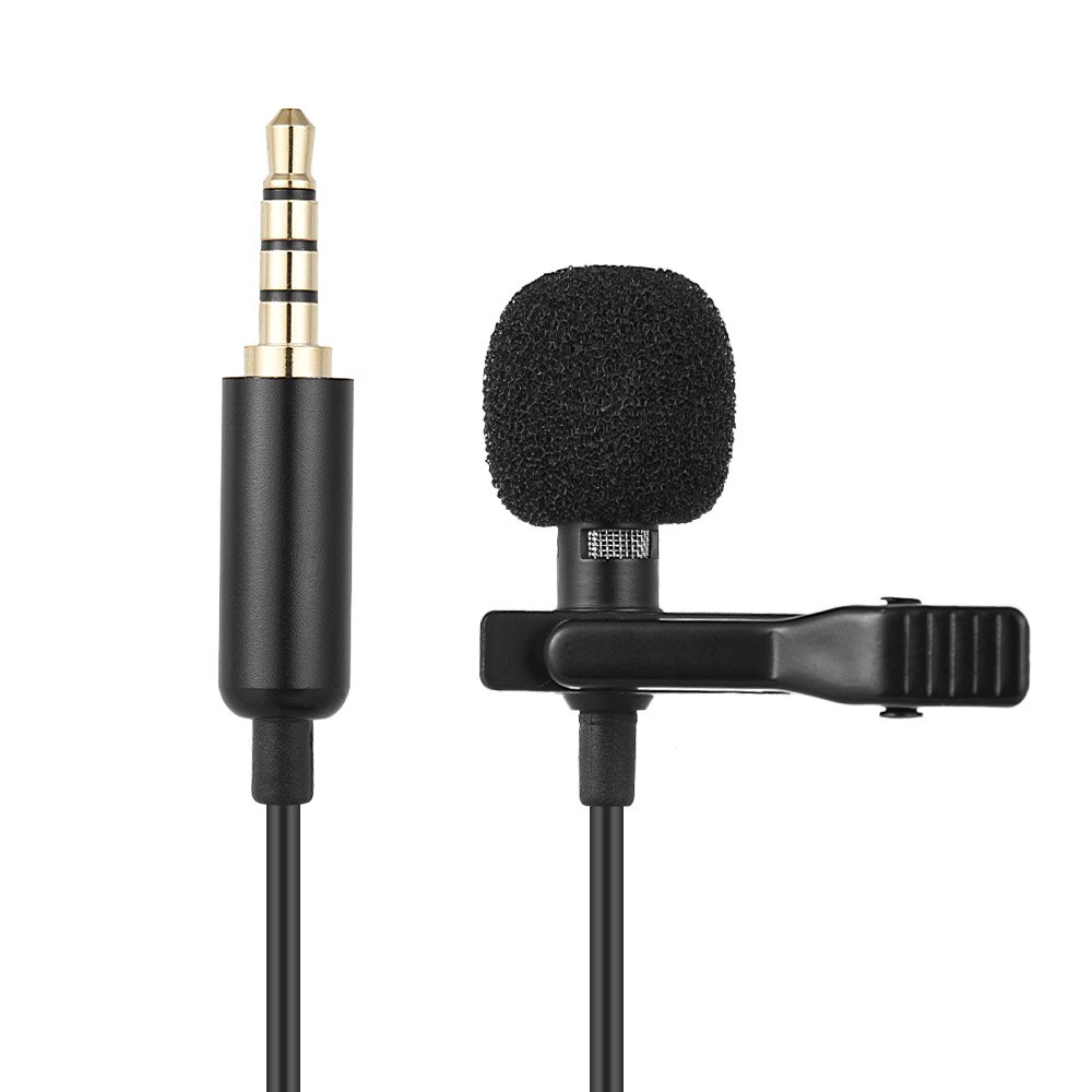 EY-510A Andoer Mini Microfone Portátil Clip-on Microfone Condensador de Lapela Lapela Microfone Sem Fio para Smartphone Câmeras DSLR