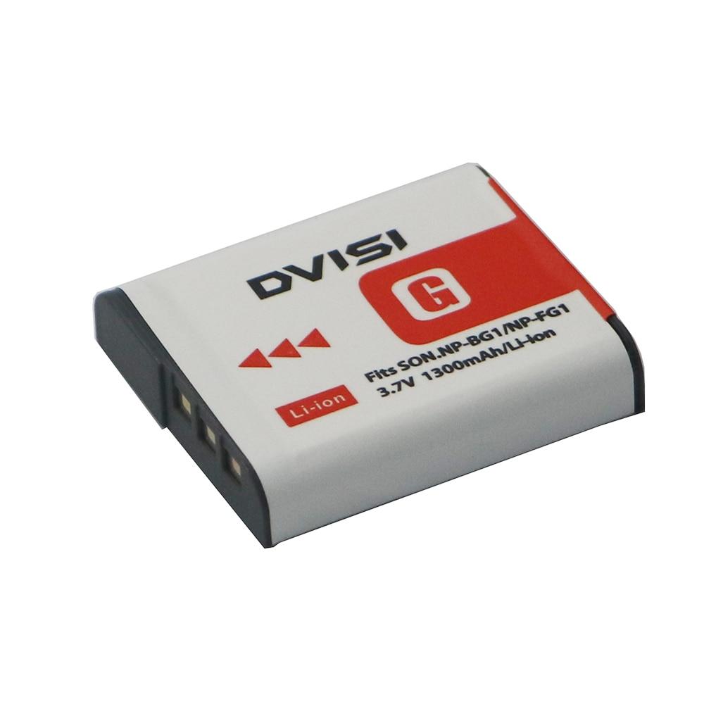 3.7 V 1300mah Fotocamera Digitale Batteria per Sony NP-BG1 NP-FG1 DSC-H3 DSC-W70 BC-CSGE BC-CSGD W30