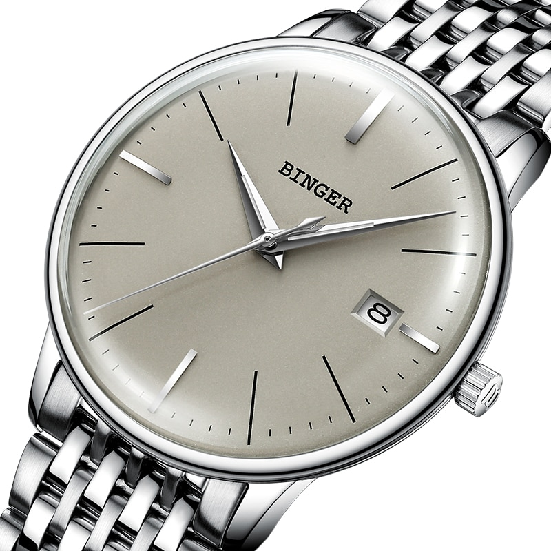 New BINGER Mechanical Watch Men Brand Luxury Men's Automatic Watches Sapphire Wrist Watch Male Waterproof Reloj Hombre B5078M-4