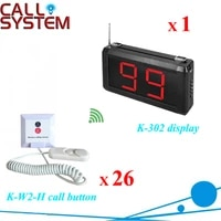 patient bed calling alarm system nurse call 1pc k 302 display 26pcs k w2 h buzzer