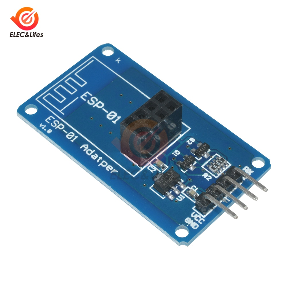 1Pcs Blue ESP8266 ESP-01 ESP01 Serial Wireless WIFI Module Adapter Board Connector 3.3V 5V Compatible Serial Board For Arduino