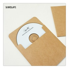 50/100Pcs Bruin Kraft CD Papieren case, Blanco Kraft Enveloppen, natuurlijke Plain Kraftpapier Gift Envelop, CD/DVD Papieren zak