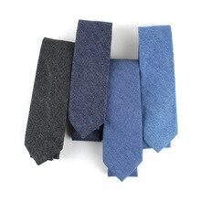Jean pour hommes 6cm Denim coton   Mode, cravates de cou pour hommes, slim coton, décontracté, Plaid étroit costumes daffaires