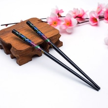 Colorful Chinese Style Wood Hairpins Beautiful flower sandalwood hair sticks for women Wedding Headw