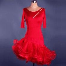 Jupe De danse latine adulte/enfant à vendre robes De danse latine rouge robe De concours De sexe De Baile Latino Latin
