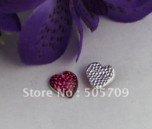 Envío Gratis 400 piezas Rosa nido de diamantes de imitación de acrílico corazón Flatback 13mm #22031