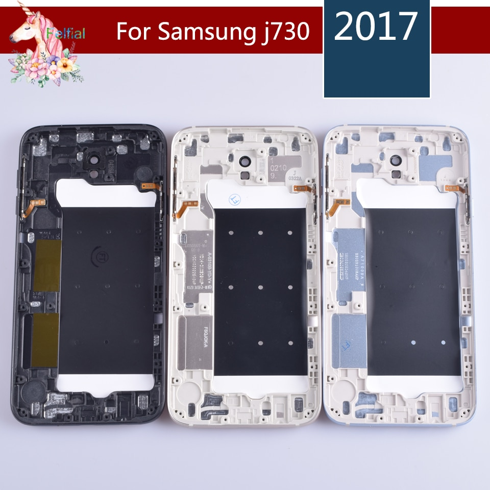 10pcs/lot For Samsung Galaxy J7 2017 J730 J730F Housing Battery Cover Door Rear Chassis Back Case Housing Replacement enlarge