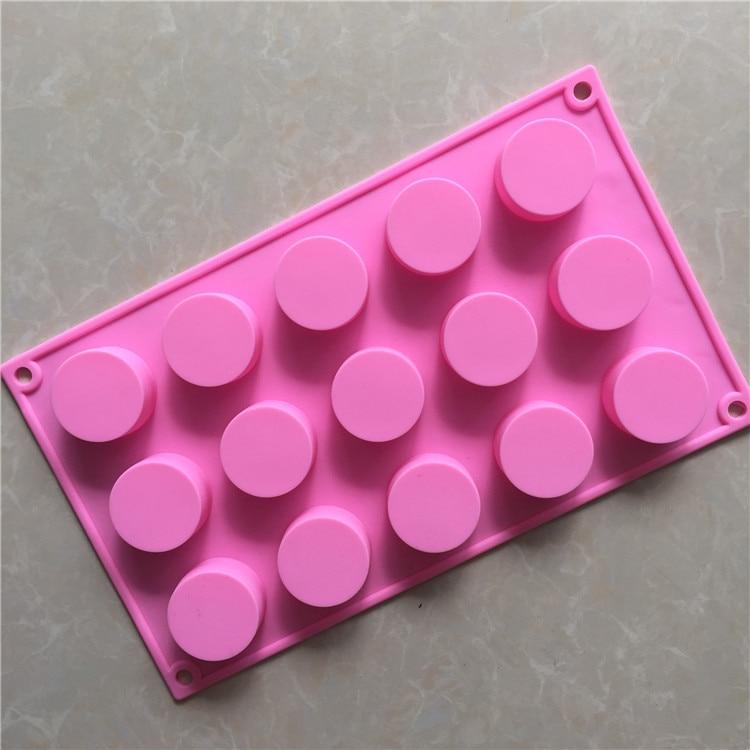 15 круглая силиконовая форма для пирога цилиндр формы для мыла ручной работы ледяной куб лоток для торта пудинга D626