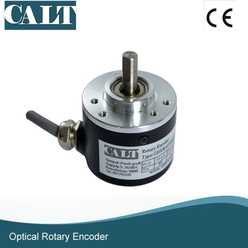 Free shipping GHS38 Series Incremental Optical Encoder 500 1000 1024 Pulse Sensor Similar to rotary encoder E6B2-CWZ1X