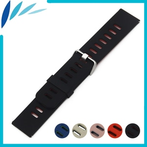 Silicone Rubber Watch Band 22mm for Armani Watchband Strap Wrist Loop Belt Bracelet Black Blue Red + Tool + Spring Bar