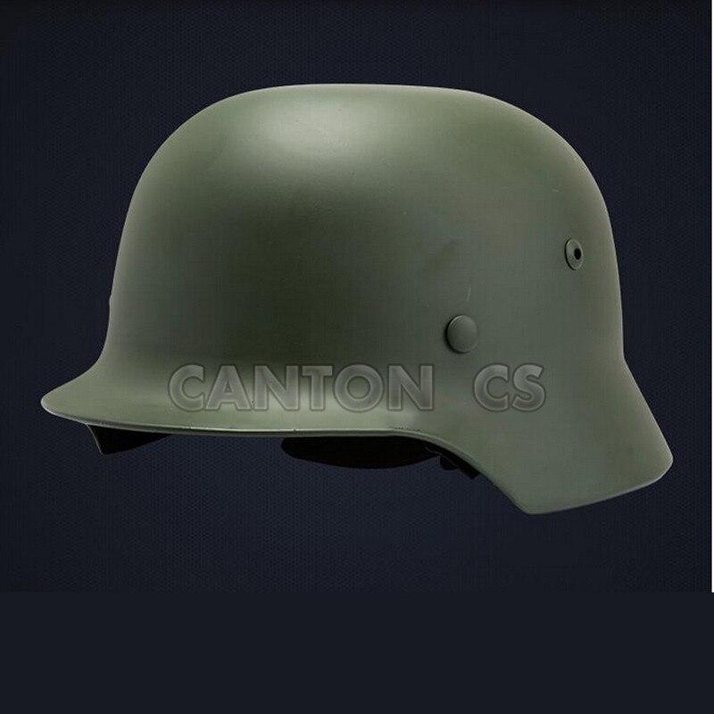 WW2 German Elite M35 Steel Helmet CS Army Luftwaffe Steel Helmet Military Training Outdoor Activities Safey Helmets