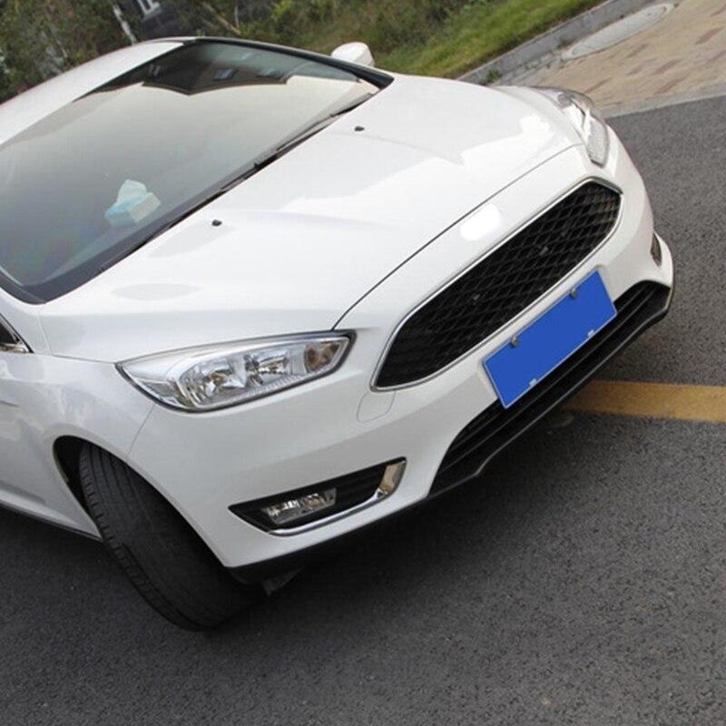 2 uds coche cromo frente niebla embellecedor de cubierta de lámpara de luz para Ford Focus 4 MK4 2015-2017