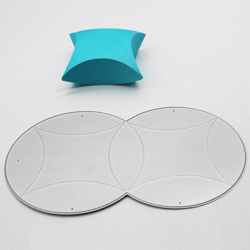 Caja circular 3D, decoración de marcos de Metal y acero, troqueles de corte DIY, álbum de fotos, tarjetas de papel de grabado, 15,9*8,5 cm