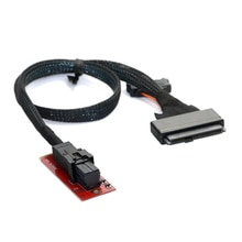 CY U.2 U2 Kit SFF-8639 NVME PCIe adaptateur SSD et câble pour carte mère Intel SSD 750 p3600 p3700 M.2 SFF-8643