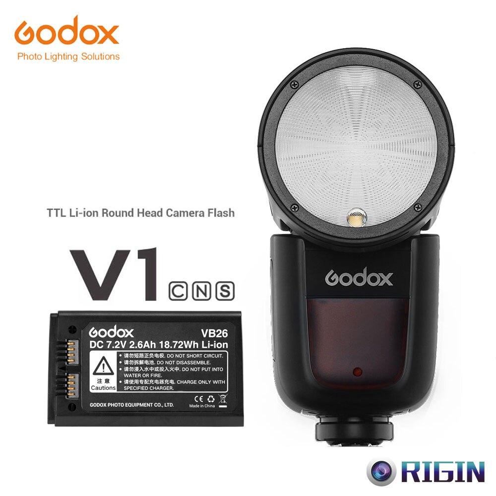 ¡Pre-venta! Godox V1 Flash V1C/V1N/V1S TTL 1/8000s HSS de la batería de litio cabeza redonda Speedlite Flash para Canon Nikon Sony