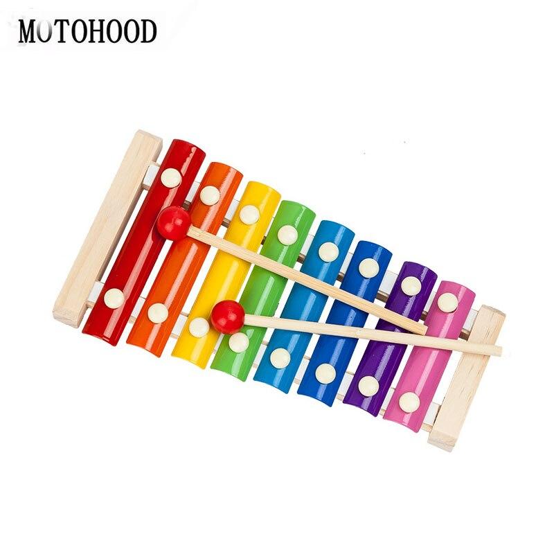 Instrumento de música de MOTOHOOD, juguetes de música de madera para bebés, niños, juguetes musicales de madera, juguetes educativos para bebés, regalos