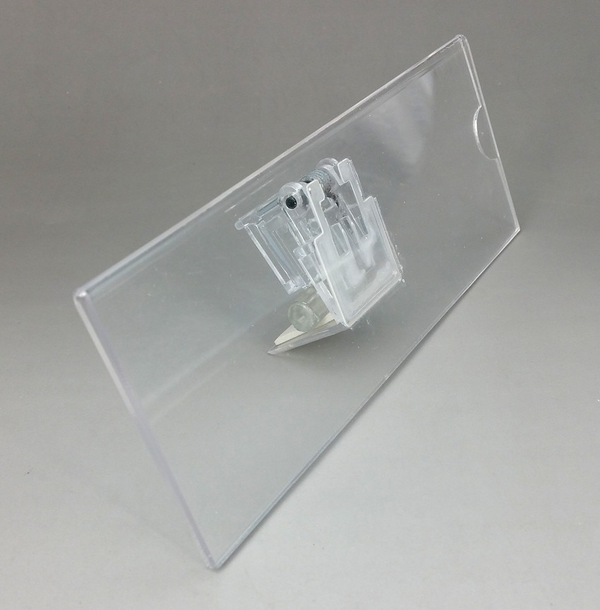 Clear Acrylic 185x66mm Plastic Sign Paper Display Promotion Card Label Holder Stand For Wood Shelf 10pcs High Quality