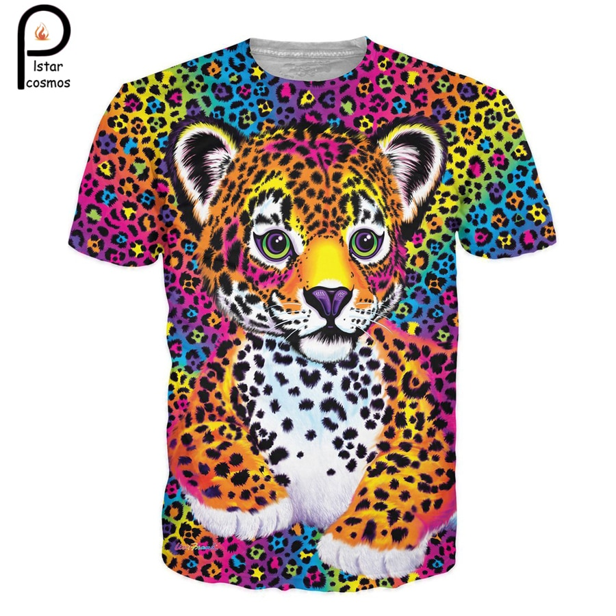 2018 suumer moda hombres mujeres encantador pequeño Tigre camisetas de dibujos animados Animal camiseta Hunter puesta 3d estampa o-cuello camiseta casual