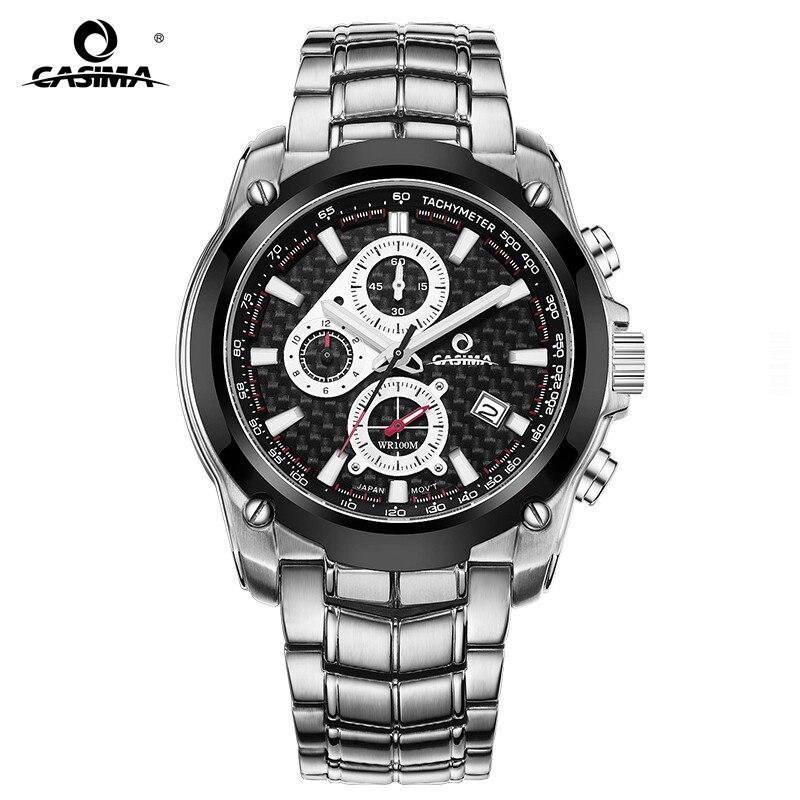 New Luxury Brand Watches Men Fashion Casual Charm Chronograph Cool Sport Men's Quartz Wrist Watch Waterproof 100m CASIMA 8886