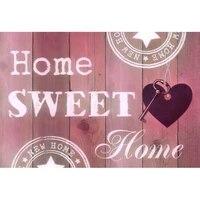 YI lumineux 5D bricolage diamant broderie maison douce maison lettres amour diamant peinture point de croix strass mosaique decoration